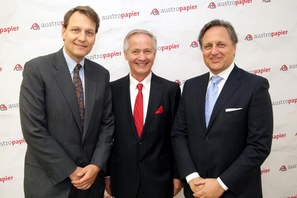 Cord Prinzhorn (Prinzhorn Group), Dr. Max Oberhumer (Sappi Austria) und Christian Skilich (Mondi)