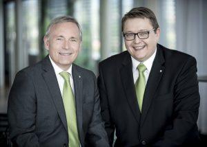 Estag-Vorstandssprecher Christian Purrer (li) und Vorstand Martin Graf