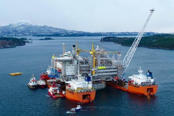 Produktionsplattform für Erdgasförderung
