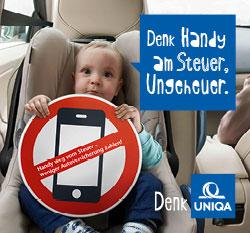 Uniqa Handy weg vom Steuer