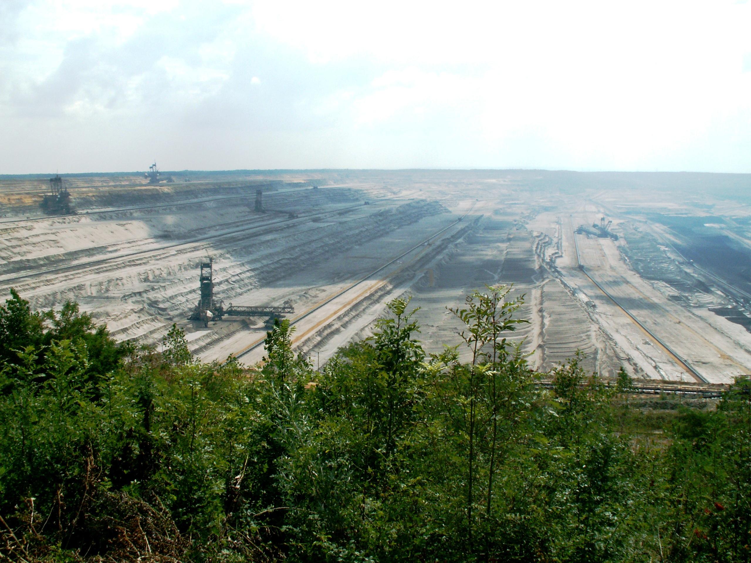 Gerodete Flächen für Tagebau