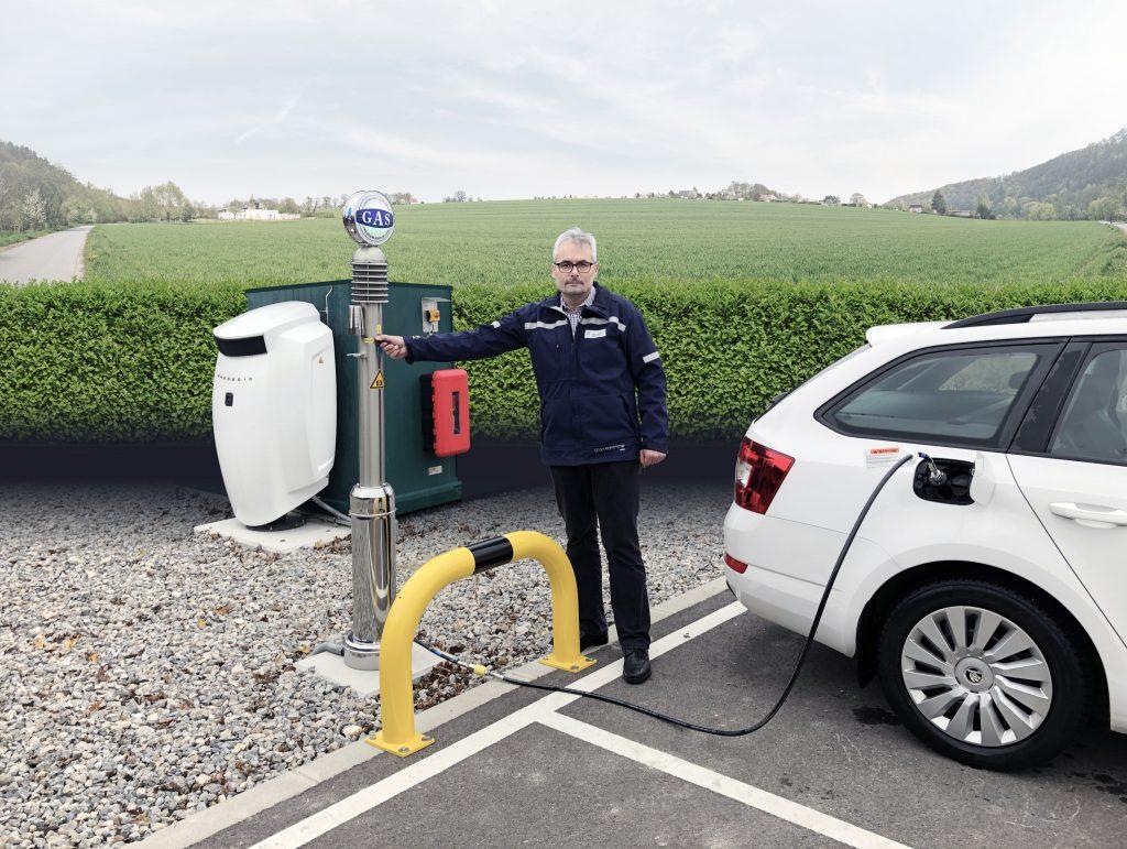 Betankung eines Erdgasautos