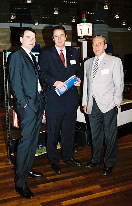 Dr. Bernd Zierhut (Doppler Mineralöle), Dr. Gerhard Roiss (OMV) und Franz Joseph Doppler (✝)