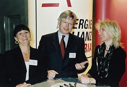 """""""Mögliche Einsparpotenziale im liberalisierten Strommarkt"""".Im Bild: Dr. Paul Jankowitsch, EnergieAllianz Österreich."""