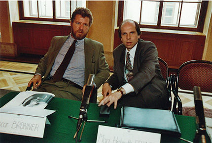 Oscar Bronner (DER STANDARD) und Mag. Helmuth Fellner (NEWS)