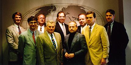Empfang der US-Studiengruppe durch das Managementin den Zentralen von 7Eleven in Dallas undMcLane Company in Temple, Texas.